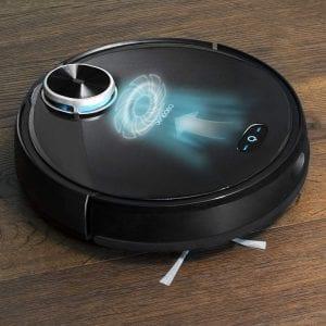 foto del robot aspirador simulando potencia