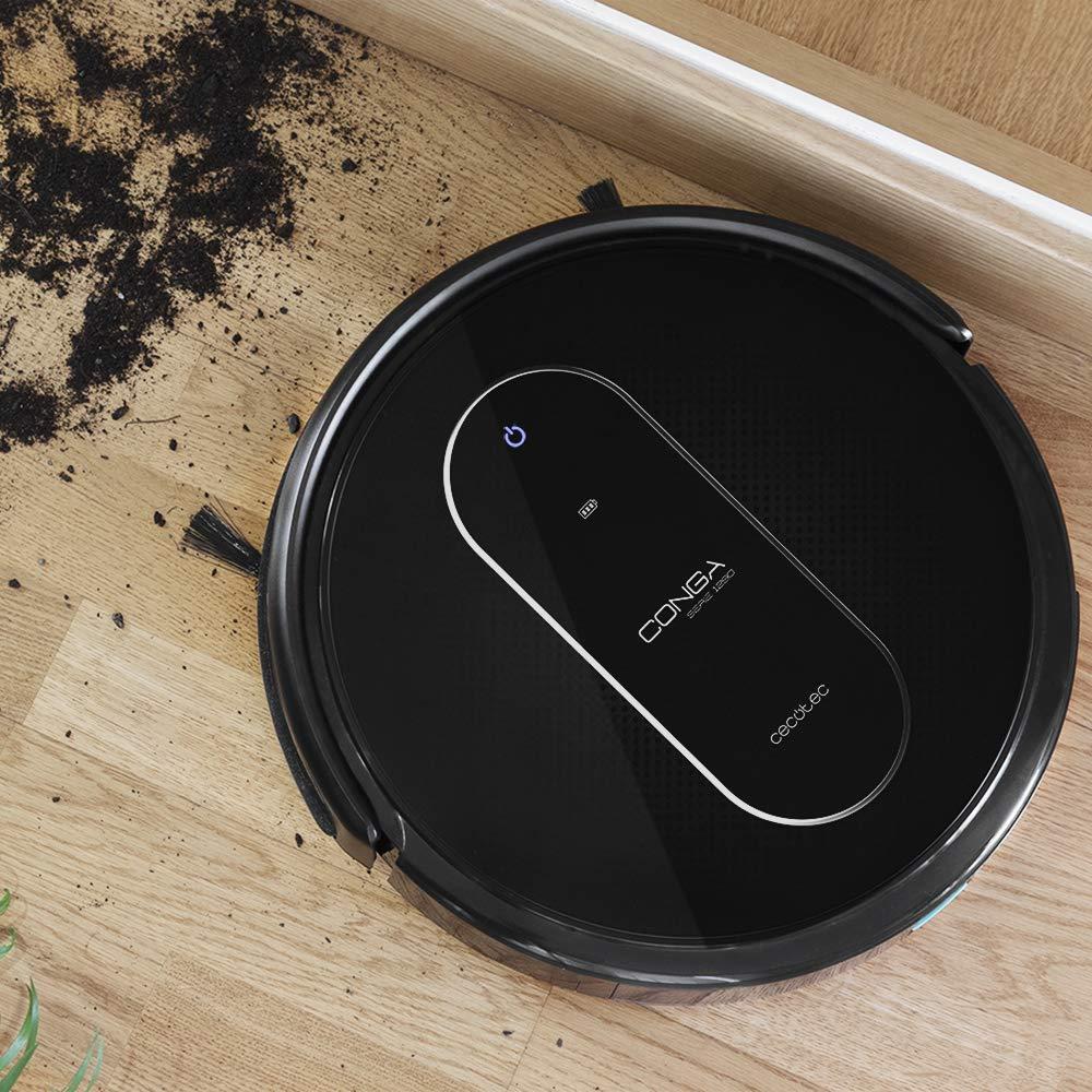 foto del robot aspirdor con sueciedad