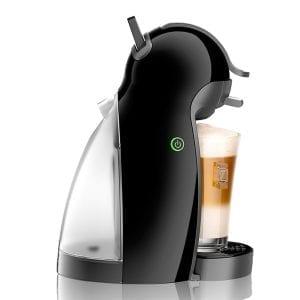 Foto de perfil de la cafetera con un cafe latte macchiato