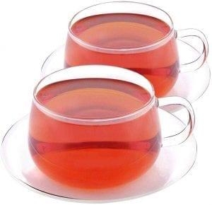 Taza de te 2 tazas de té VAHDAM Purpurina