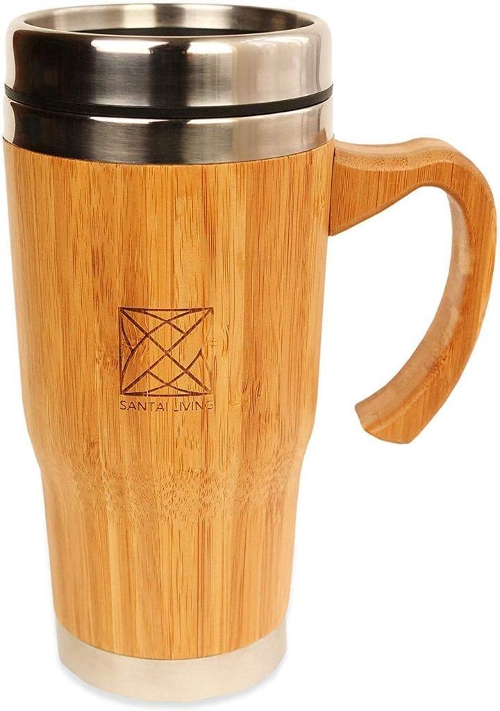 taza de té Santai living taza Térmica de Bambú 450ml