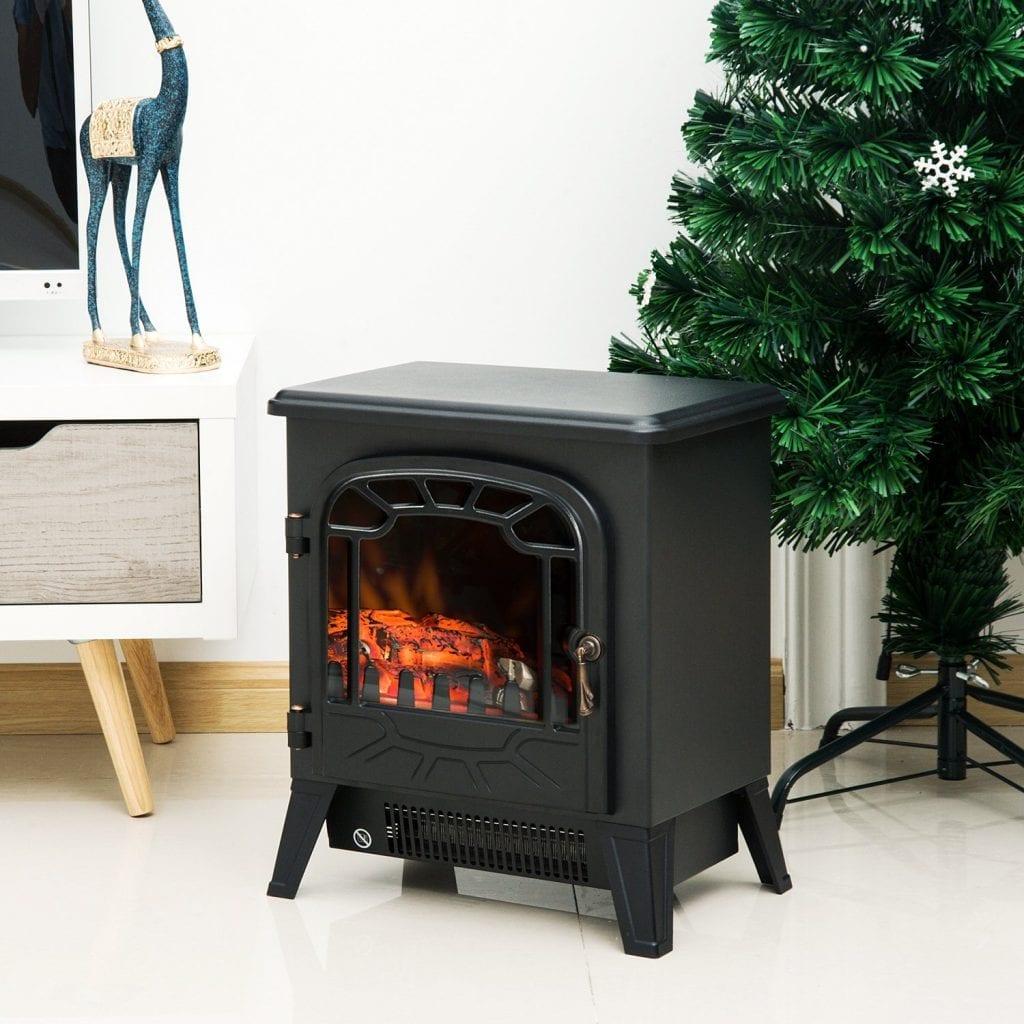 Estufa calefactor electrica con termostato y sistema de calefaccion independiente