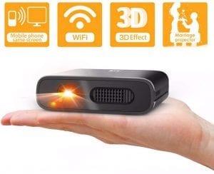 Mini proyector portatil para movil con batería recargable