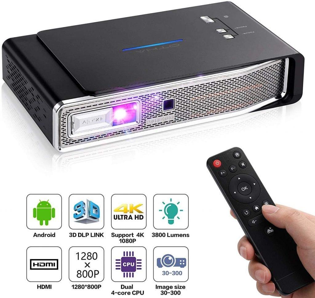 proyector para movil portátil mini 4k otha c800s