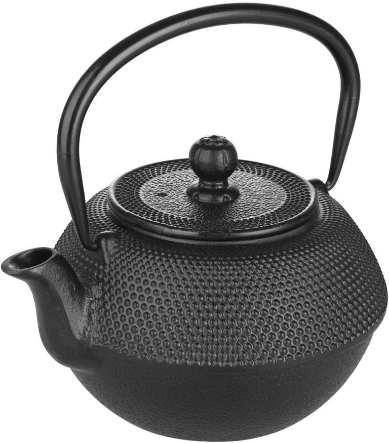 tetera para té de hierro fundido
