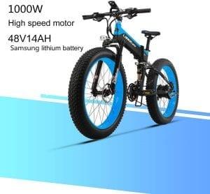 bicicleta eléctrica plegable de montaña 1000w