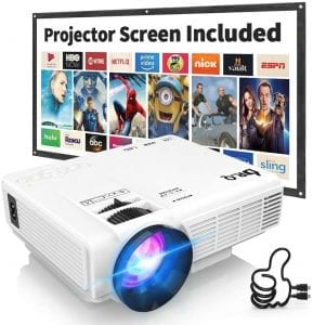 proyector con pantalla para cine en casa