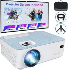 fangor f206 proyector con pantalla