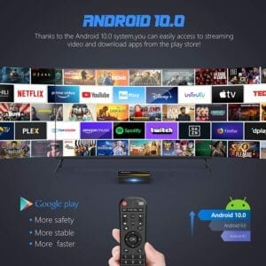 tv box bqeel android 10.0 rk3318