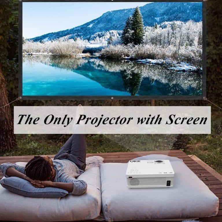 kit proyector y pantalla para cine en casa