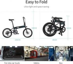 bici eléctrica plegable adulto con autonomia