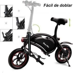 bicicleta electrica urbana pequeña
