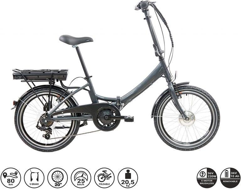 bicicleta plegable eléctrica de gran autonomia