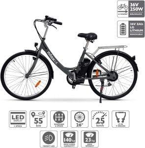 bicicleta eléctrica de paseo para ciudad