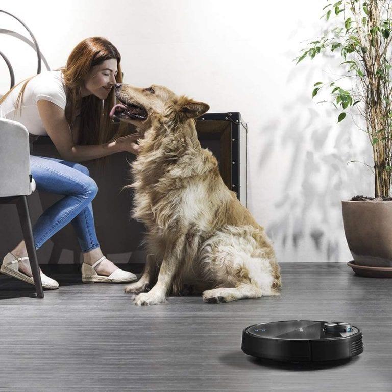 robot aspirador con cepillo especial mascotas