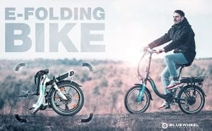 bicicleta eléctrica urbana plegable bluewheel opiniones