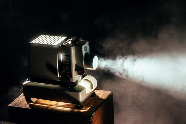 luminiscencia de un proyector