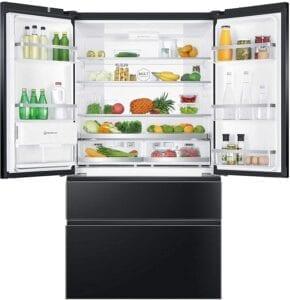 haier iconic black frigorífico americano con cajones congelador