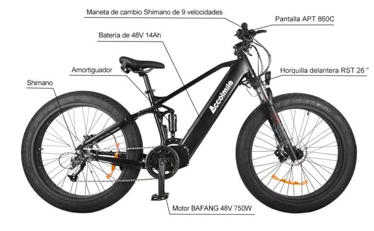 bicicleta eléctrica accolmile 1000w