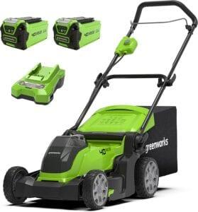 greenworks cortacesped eléctrico con bateria g40LM41K2X opiniones